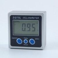 Inclinómetro electrónico PRO 360 grados LCD caja de bisel digital medidor de ángulo Mini transportador de plástico ABS con Base magnética