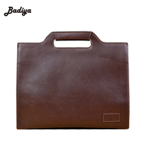 2017 New Bolsa Large Brand Leather Business Male Bag Fashion Laptop Bag High Quality Briefcase Portfolio