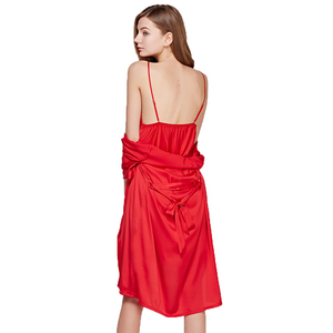 Image 3 - Fiklyc מותג נשים של שינה & טרקלין שני חתיכות robe & שמלת סטי סקסי חלול החוצה תחרה וסאטן נשי מיני כתנות לילה חלוק רחצה סט