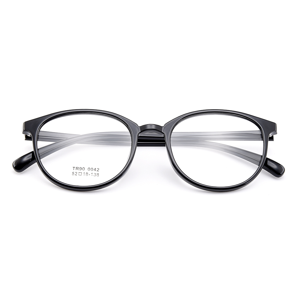 afbf885261 BAONONG New Arrival Round Simple Design Extra Thin TR90 Optical Eyeglasses  Full Rim Frame For Women s Prescription Glasses W0042-in Eyewear Frames  from ...