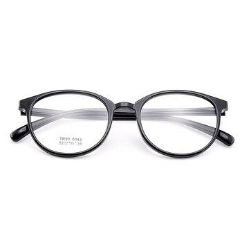 f0a99ffbf5 BAONONG nueva llegada ronda diseño Simple Extra-fino TR90 anteojos ópticos  de borde completo marco