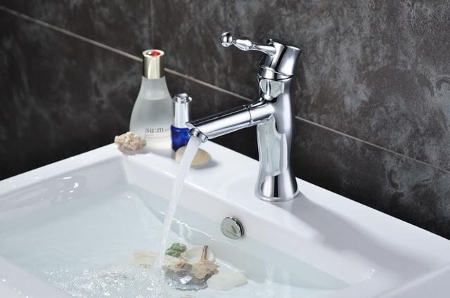 Enkele koude klassieke badkamer wastafel kraan met eengreeps