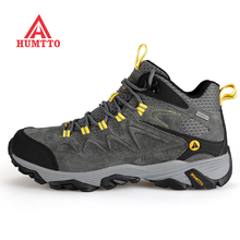 HUMTTO Men's Winter Leather Outdoor Hiking Trekking Boots Sneakers Shoes For Men Sport Climbing Mountain Boots Shoes Man