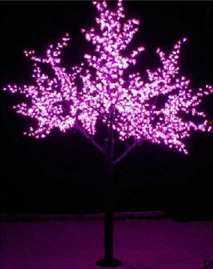 Livraison gratuite 1.5 mètres 636 LEDS fleur cerisier noël vacances décoration décorations blanc/vert/rose/jaune AC110-240V
