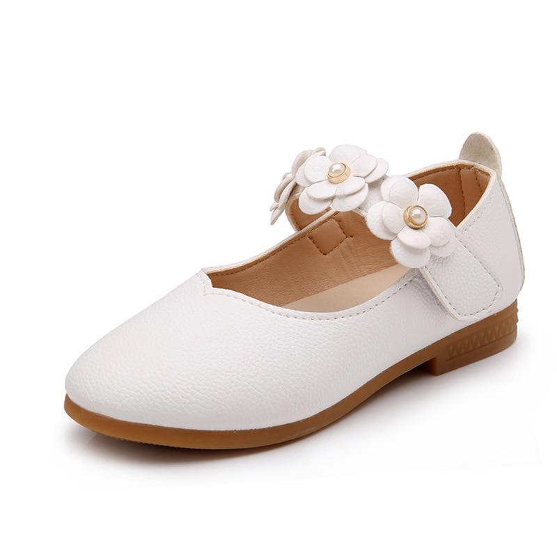 جديد ربيع الخريف أطفال فتاة عارضة أحذية رياضية الفتيات الأحذية الجلدية الأطفال أحذية أطفال الزهور الأميرة حزب أحذية 21-36