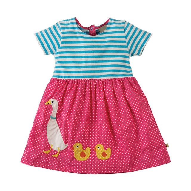 be1e8b3f1dcf4 Bébé Filles robe d été Modèle Animal Enfants robe de fête vêtement pour  enfants Robes