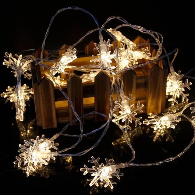 Warm White Snowflake string lights 5c64f7bc00c6d