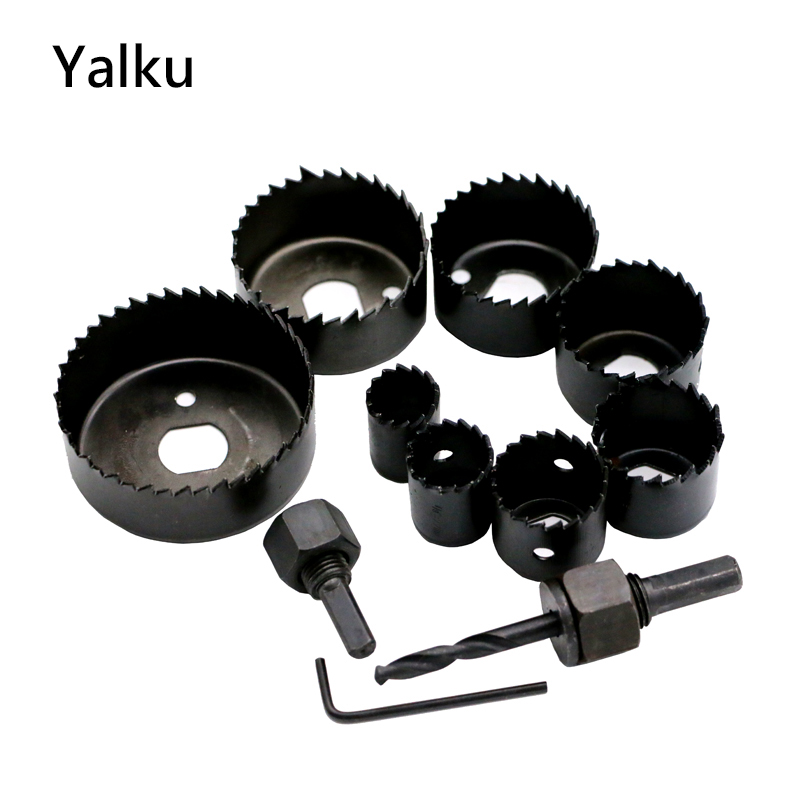 Yalku Hole Saws Drill Bits Power Tool Kit Drill Bit Set 11pcs Hole Saw Power Tool Set 19-64mm Masonry Drilling Electrical Tool wall impact drill bit cut tool kit set hole saw cutter plus hammer core arbor shaft for wall masonry stone