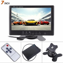 цена на Hot Sale! 800*480 7 Inch HD Color TFT LCD Screen Rear View Camera Monitor 2 AV Video Input Car Reverse DVD VCD Player Monitor