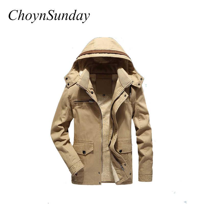 Choynsunday 2018 新到着ジャケット冬ベルベット肥厚メンズコートメンズとロングジャケットファッションシンプルな緩いコート