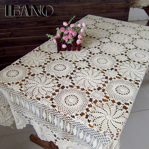 Image 1 - IBANO Cotton Tablecloth Handmade Vintage Flowers Design Crocheted Table cloth Lace Coasters Home Table Decoration Crafts