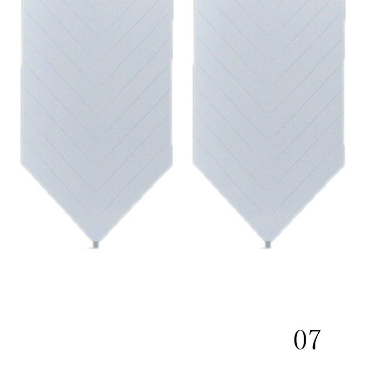 New Fashion 48PCS/Lot Nail Sticker DIY French Manicure Nail Art Decorations Round Form Fringe Guides Nail Sticker 13