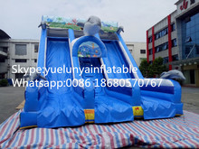 2016 new Factory direct Inflatable slide,Underwater world slide, Dolphin slide KY-114