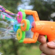 12*9 см электрический пистолет для мыльных пузырей#5 с питанием от батареи автоматическая машина для выдувания пузырьков воды Детский праздничный водяной пистолет игрушка d22