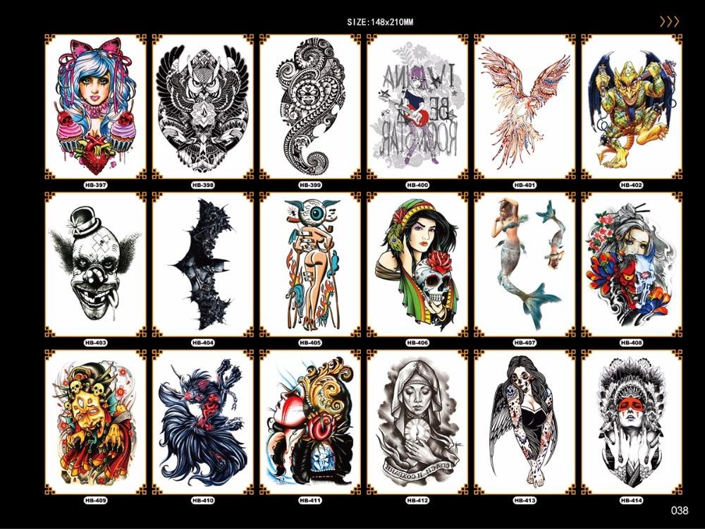 fácil de pegar cruel hombres tatuaje largo y largo brazo arte - Tatuaje y arte corporal - foto 4