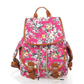 2017 Cheap backpack ON Sale Girl backpacks Casual Printing Flower School Bag Mochila Cute Rucksack Vintage Laptop Backpacks  K02