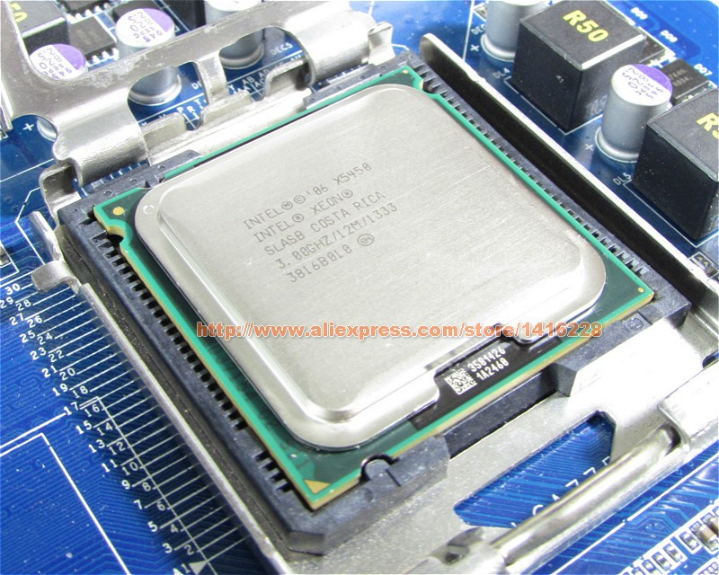 Xeon X5450 Processor 3.0GHz 12MB 1333MHz SLBBE SLASB Close to Core 2 Quad q9650 works on LGA775 motherboard