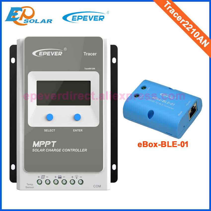 Solar battery charge controller EPSolar 20A 20amp Tracer2210AN bluetooth eBOX-BLE-01 Android APP setting EPEVER MPPT 100% new original service station cleaning unit c7769 60374 c7769 60149 for hp designjet 500 500plus 500mono 510 800