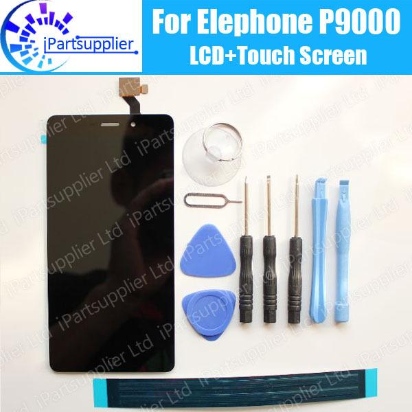 Elephone P9000 Display LCD + de Tela de Toque 100% LCD Original Digitador de Vidro Substituição Do Painel Para Elephone P9000 + ferramentas + adesivo