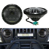 Pair Of 75W LED Light 7 Round Headlight With DRL High Low Beams For Jeep Wrangler