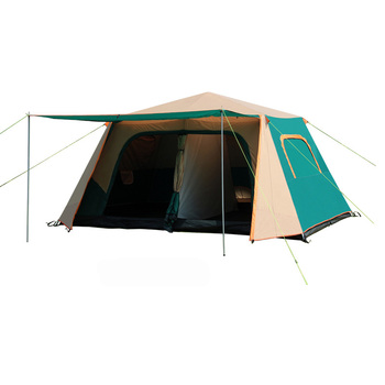 VANQUISHER Automatic large space one hall two bedrooms waterproof windproof family party camping tent with aluminum poles 2015 new style high quality double layer untralarge one hall one bedroom family party camping tent