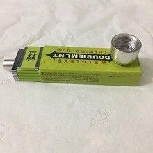 Chewing Gum Smoking Pipe Aluminum Metal for Hookah Shisha Glass Water