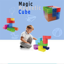 Magic Cube Puzzle for Intelligence Toys Magnetic Building Set Games Toys antistress For Children Adult Education Toy(China)