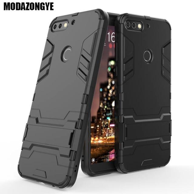lowest price 652b0 cc733 US $3.19 20% OFF|Huawei Y7 Prime 2018 Case Hybrid Silicone +TPU Back Cover  Phone Case Huawei Y7 Y 7 2018 Y72018 LDN L21 LDN LX2 LDN TL10 Case-in ...