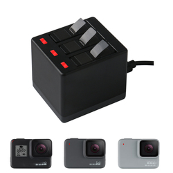 New 3-Way Battery Charger LED Charging Box Carry Case Battery Housing for GoPro Hero 7 Hero 6 5 Black Accessories