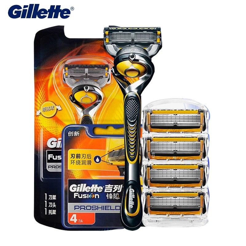Gillette Fusion Brand Razor Proshield Flexball Shave Shaver Men Beard Cutting Safety Razor Shaving Blades Refill