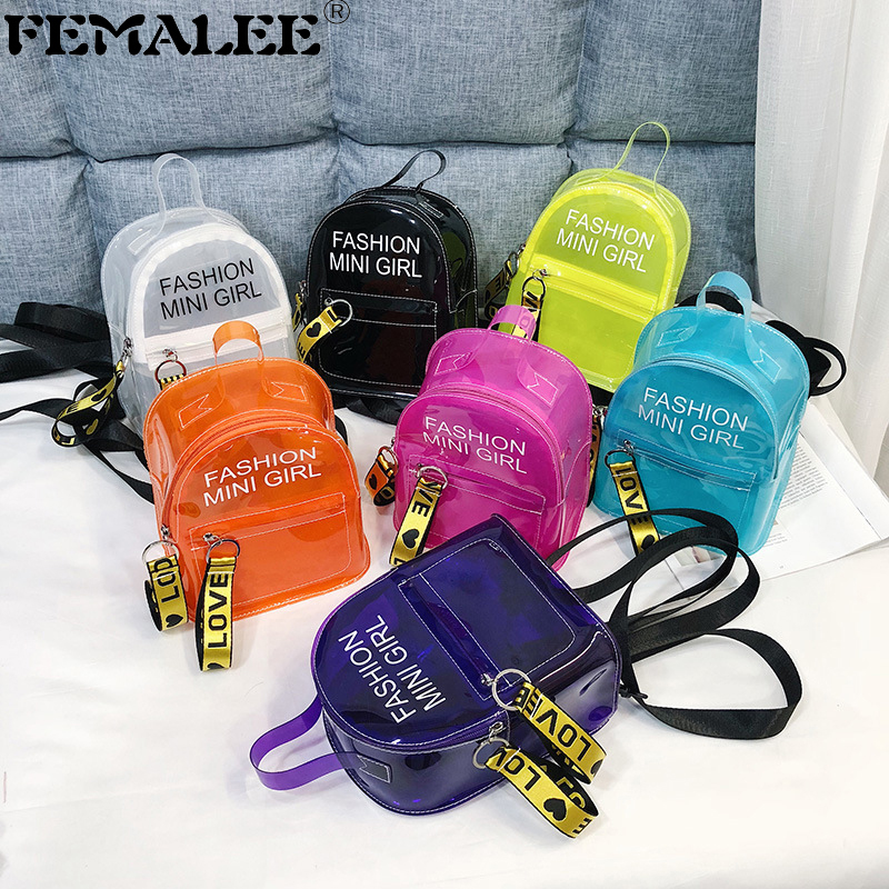 2019 Trendy New Women Jelly Sac Phone Bag Shoulder Bag Female Clear Mini Phone Messenger Bag Transparent Girls Crossbody Handbag