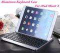 Новые Оптовые Ультра-тонкий Металлический Алюминиевый Сплав Беспроводная Связь Bluetooth 3.0 Клавиатура Для iPad Mini 1 2 3