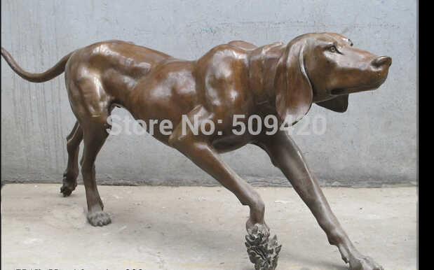 "Shipping60 מהיר ""מערבי אמנות פסל sighthound גרייהאונד איטלקי כלב פסל ברונזה טהור"