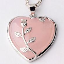 Трендовые бусы романтичный покрытый серебром натуральный розовый