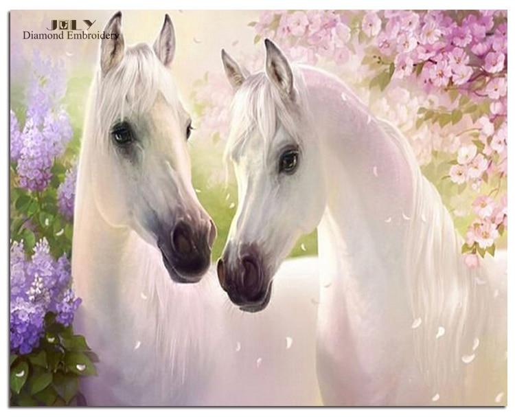 diamond embroidery mosaic animals handcrafts cute horses