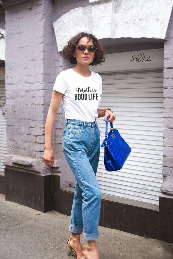 Mother Hood Life Shirt Fashion Clothing Jumper Women Summer Style