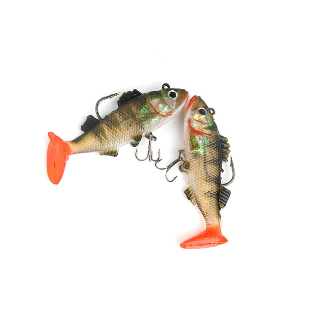 2 pièces Whopper Popper 9cm 19g Topwater pêche leurre artificiel doux appât 3D yeux Plopper doux rotation queue matériel de pêche