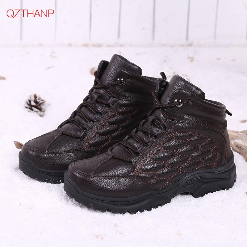 Grande Chaud Sneakers Peluche Taille marron Ayakkabi En Neige Hommes Lacets D'hiver Bottes Noir Fourrure À De Nouveaux Mode Erkek P6PqArWg