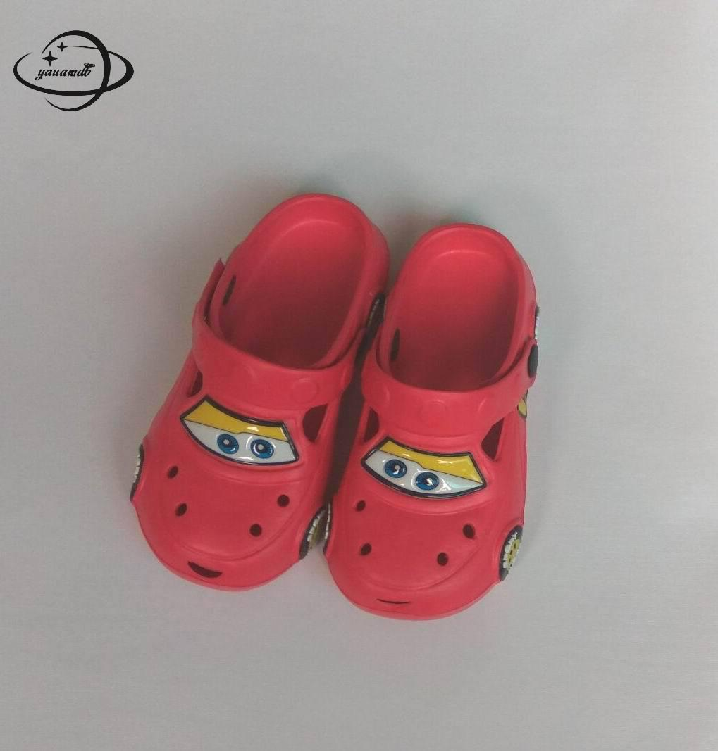 cb3ce80d61baa8 YAUAMDB kids mules   clogs summer boys girls flat sandals cartoon car  breathable baby soft bottom toddler children shoes ly17-in Mules   Clogs  from Mother ...