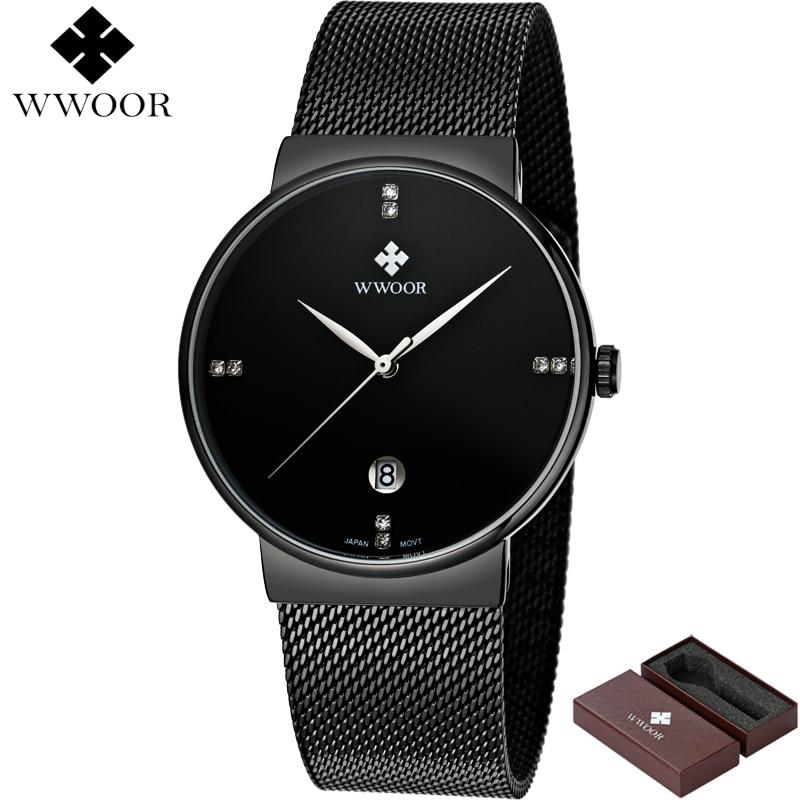 WWOOR μαύρο ρολόι ανδρών ρολογιών - Ανδρικά ρολόγια - Φωτογραφία 2