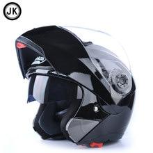 0e34c94a Genuino jiekai 105 moto motocicleta Cascos completo Cara visera doble lente  verano invierno hombres scooter motocross moto casco