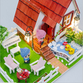 miniaturas D016 Holiday cottages hongda diy doll house wooden miniature garden dollhouse with lights