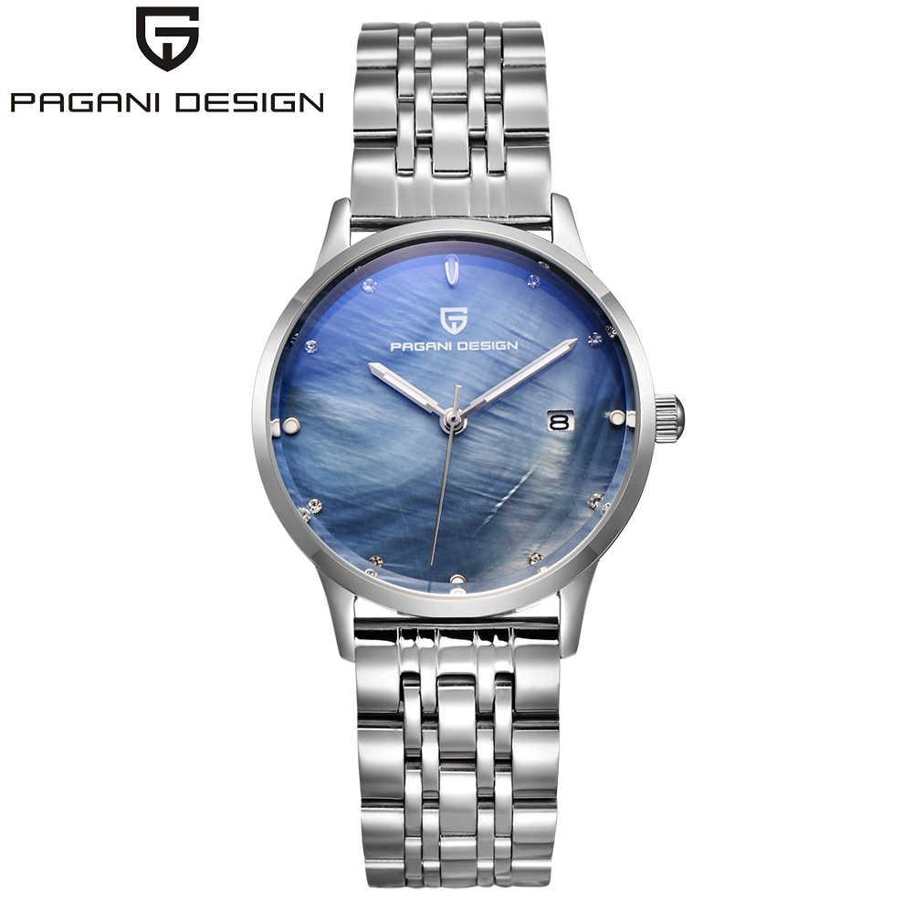 Moda damska zegarek PAGANI DESIGN luksusowa marka kobiety sukienka zegarek kwarcowy wszystkie stalowe Casual romantyczny zegarek relogio feminino