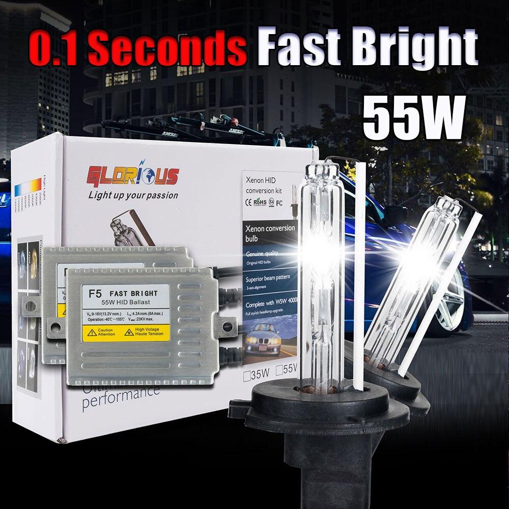 ФОТО Fast bright F5 12V 55w XENON H7 3000k 4300k 5000k 6000K 8000K 10000k 30000k HID xenon kit H7
