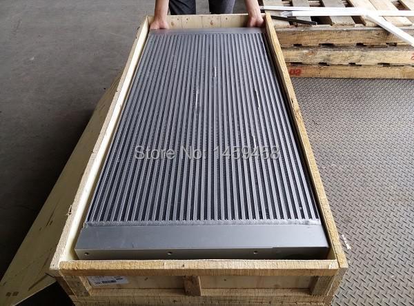 WJIER aluminum plate-fin oil cooler 1625890203 for GA45 screw air compressor parts wjier black aluminum plate fin combined air cooler 1622319100 for ga37 75 screw air compressor