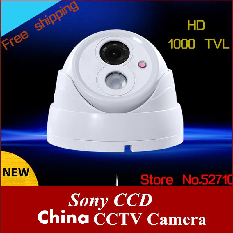 Free shipping 2016 NEW HD 1000 TVL CCTV Camera Indoor SONY CCD IR Surveillance Camera with Night Vision High Quality