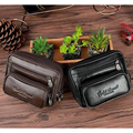 Men Genuine Leather Cowhide Fanny Belt Loop Bag Travel Vintage Waist Pack Designer Cell/Mobile Phone Case Hip Bum Male Purse New