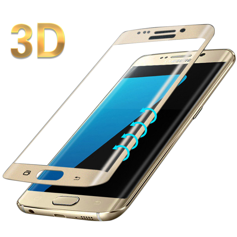 online retailer 9e536 393f5 US $5.77 |3D Curved Edge COLD CARVING Full Cover Tempered Glass for Samsung  Galaxy S7 edge S8 S9 Plus Premium Screen Toughened Glass -in Phone Screen  ...