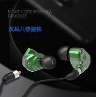 PHB EM 023 2BA+2DD Hybrid Drive Unit In Ear Earphone DJ HIFI Metal Earphone Sports Earphones With Detachable Detach MMCX Cable