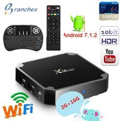X96 mini caixa de tv android 7.1 2 gb 16 gb amlogic s905w tvbox quad core wifi media player 1 gb 8 gb x96mini inteligente conjunto-caixa de tv superior